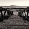 Table Mountain black and white