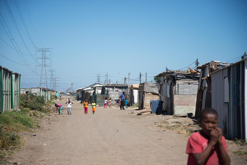 Shacks outside of Langa