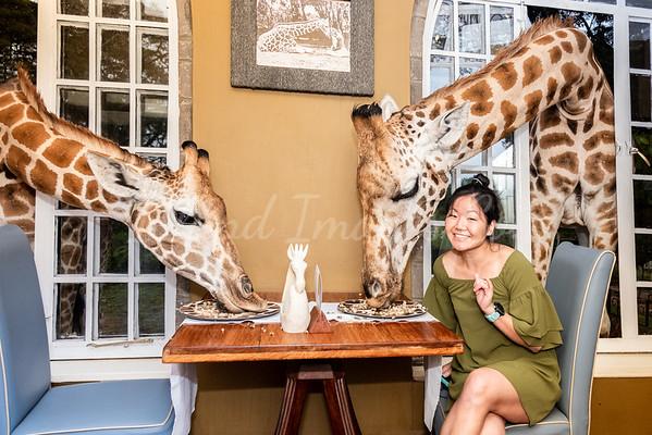Sandi At Giraffe Manor