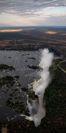 Victoria Falls Vertical Pano 1x2