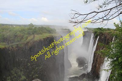 Eastern Cataract of Vic Falls in Livingstone, Zambia