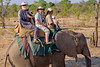 Allan and Ann Riding Their Elephant