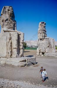 Luxor,Colossi of Memnonjkolossen van Memnon,Colosses de Memnon