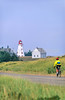 Cyclist at Panmure Island Provincial Park, Prince Edward Island, Canada - 7 - 72 ppi