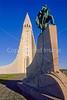 Leif Eriksson statue near Hallgrimskirkja Church in Reykjavik, Iceland - 4 - 72 dpi