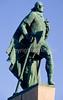 Leif Eriksson statue near Hallgrimskirkja Church in Reykjavik, Iceland - 8 - 72 dpi