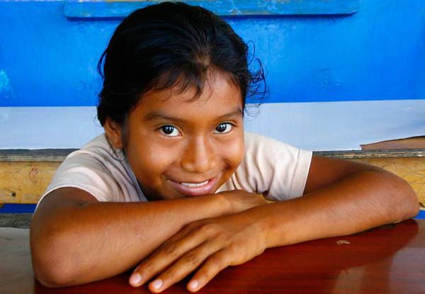 A schoolgirl's smile