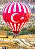 3 Bikers & Turk flag balloon in Cappadocia, Turkey - C2 _D5A2214