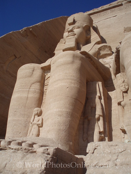 Abu Simbel - Ramses II Temple - Statue of Ramses