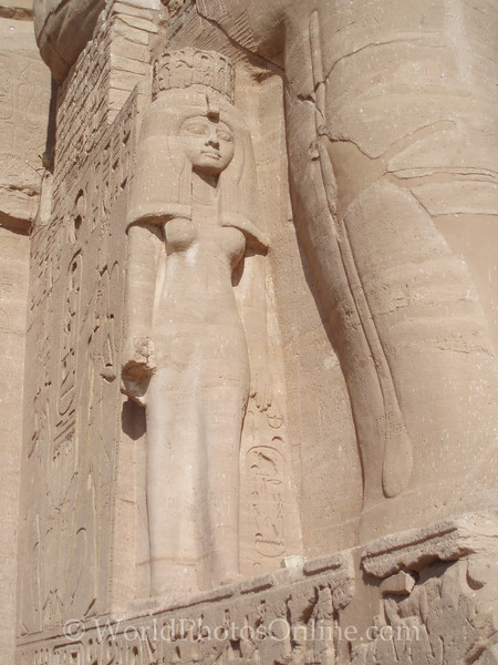 Abu Simbel - Ramses II Temple - Statue of Queen Nefertari