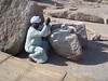 Aswan - Unfinished Obelisk - Workman