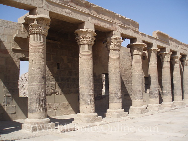 Philae Island - Temple of Isis - Outer Temple Court 1