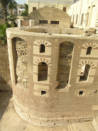 Coptic Cairo - Round Tower of Roman 'Fortress of Babylon' 1