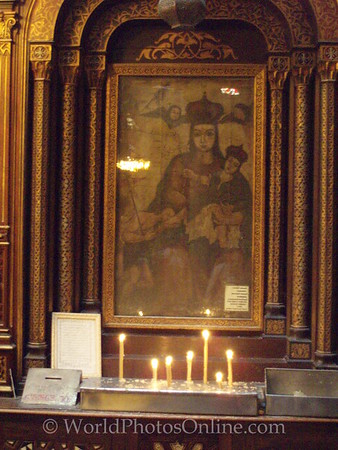 Coptic Cairo – Hanging Church – Painting of Virgin Mary
