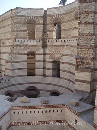 Coptic Cairo - Round Tower of Roman 'Fortress of Babylon' 2