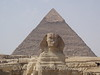 Cairo - Giza - Sphinx in front of the Pyramid of Khafre
