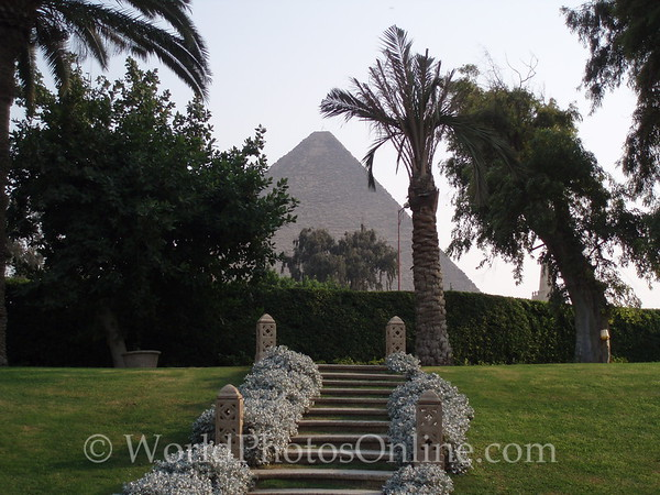 Cairo - Giza - Great Pyramid from Oberoi Mena House Garden