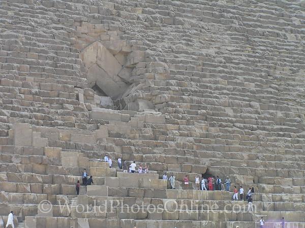 Cairo - Giza - Great Pyramid Entrance