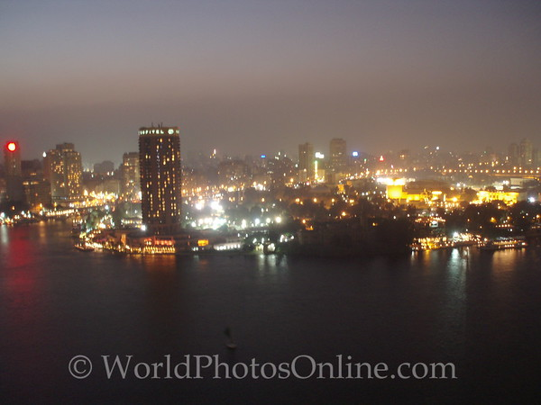 Cairo at Night from Hotel Room