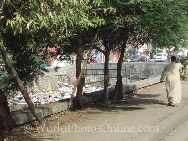 Cairo - Nile Canal - Note it is full of trash!