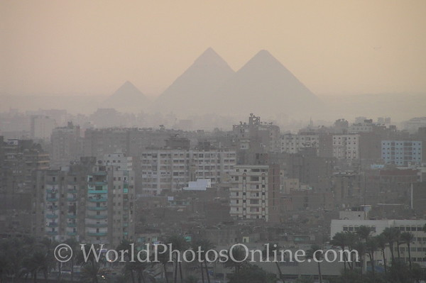 Cairo - Great Pyramids from hotel room