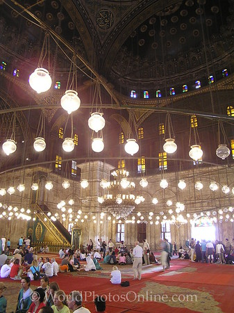 Cairo - Citadel - Mosque of Mohammed Ali - Interior 2