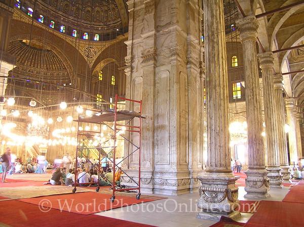 Cairo - Citadel - Mosque of Mohammed Ali - Interior 1