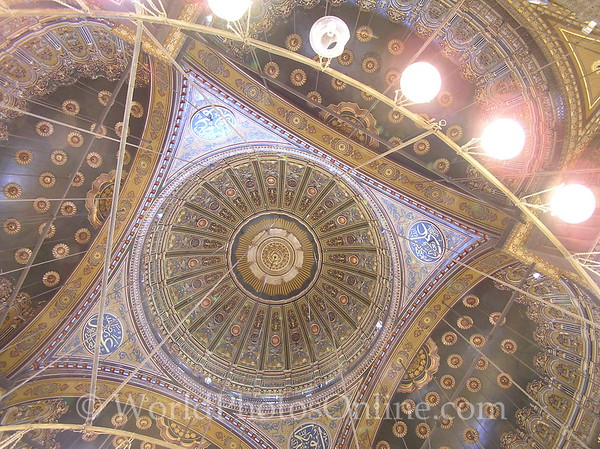 Cairo - Citadel - Mosque of Mohammed Ali - Ceiling