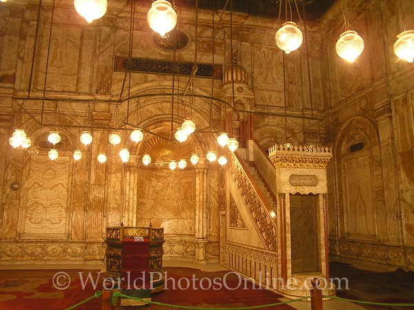 Cairo - Citadel - Mosque of Mohammed Ali - Interior