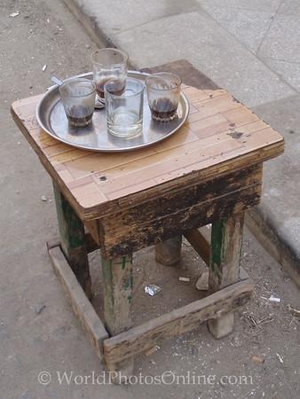 Islamic Cairo – Coffee Table on street