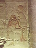 Abydos - Relief of Seti I being fed by Hathor