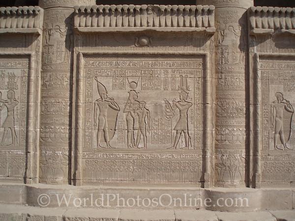 Dendara - Temple of Hathor - Reliefs on Roman Birth House
