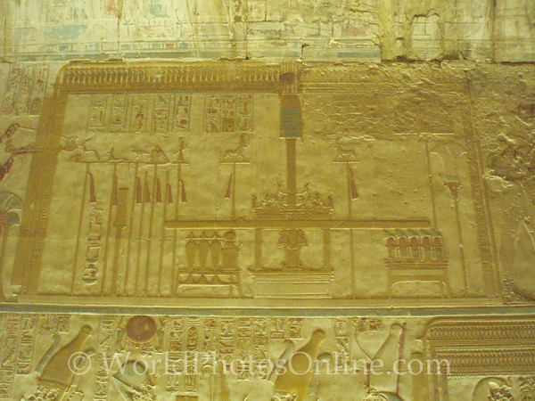 Abydos - Relief of Offering Temple for Hathor