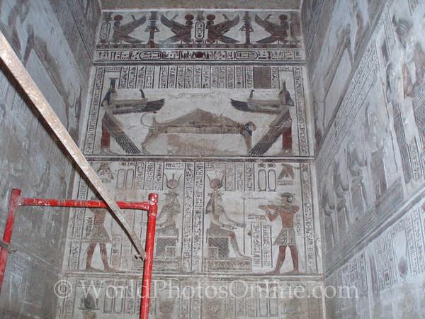 Dendara - Temple of Hathor - Reliefs in Sanctuary
