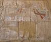 Karnak - Hieroglyph - Hatshepsut chipped out of relief