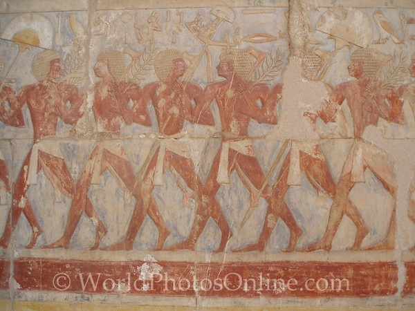 Luxor - Temple of Hatshepsut - Hathor Chapel - Relief Nubian sailor