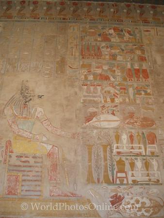 Luxor - Temple of Hatshepsut - Anubis Chapel - Relief of Offerings