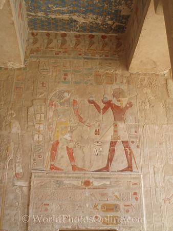 Luxor - Temple of Hatshepsut - Relief of Horus & Hatshepsut