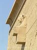 Dendara - Temple of Hathor - Lion Head on Temple Wall