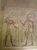 Abydos - Temple of Osiris - Wall Relief of Anubis giving life staff to Seti I