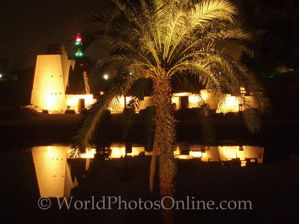 Karnak - at night arcoss the Sacred Lake