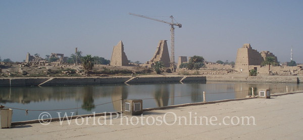Karnak - 7th, 8th, 9th Pylons across Sacred Lake