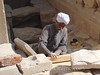 Karnak - Worker restoring the Temple