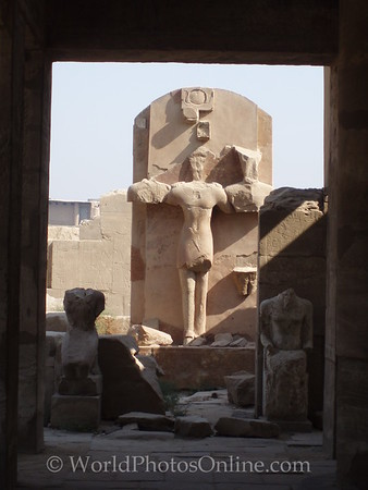 Karnak - Amun made into a cross by the early christians