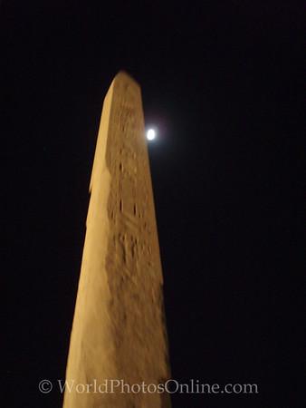 Karnak - Obelisk of Hatshepsut at night