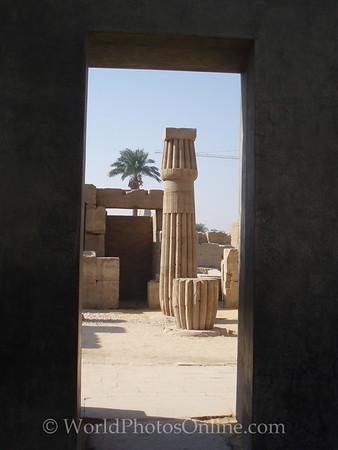 Karnak - Papyrus stone column