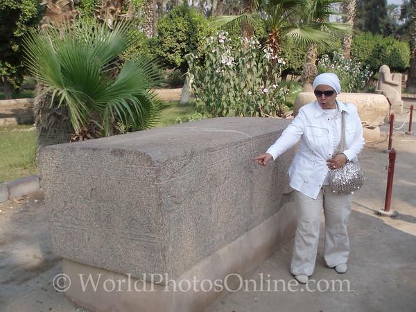 Memphis - Top of Amenhotep III Sarcophagus