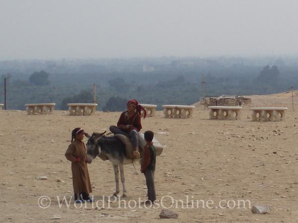 Sakkara - Children outside of Zoser's Funerary Complex
