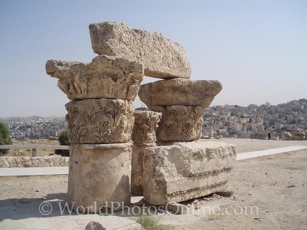 Amman - Citadel - Roman Column Capstones