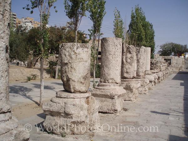 Amman - Columns in front of Roman Theater